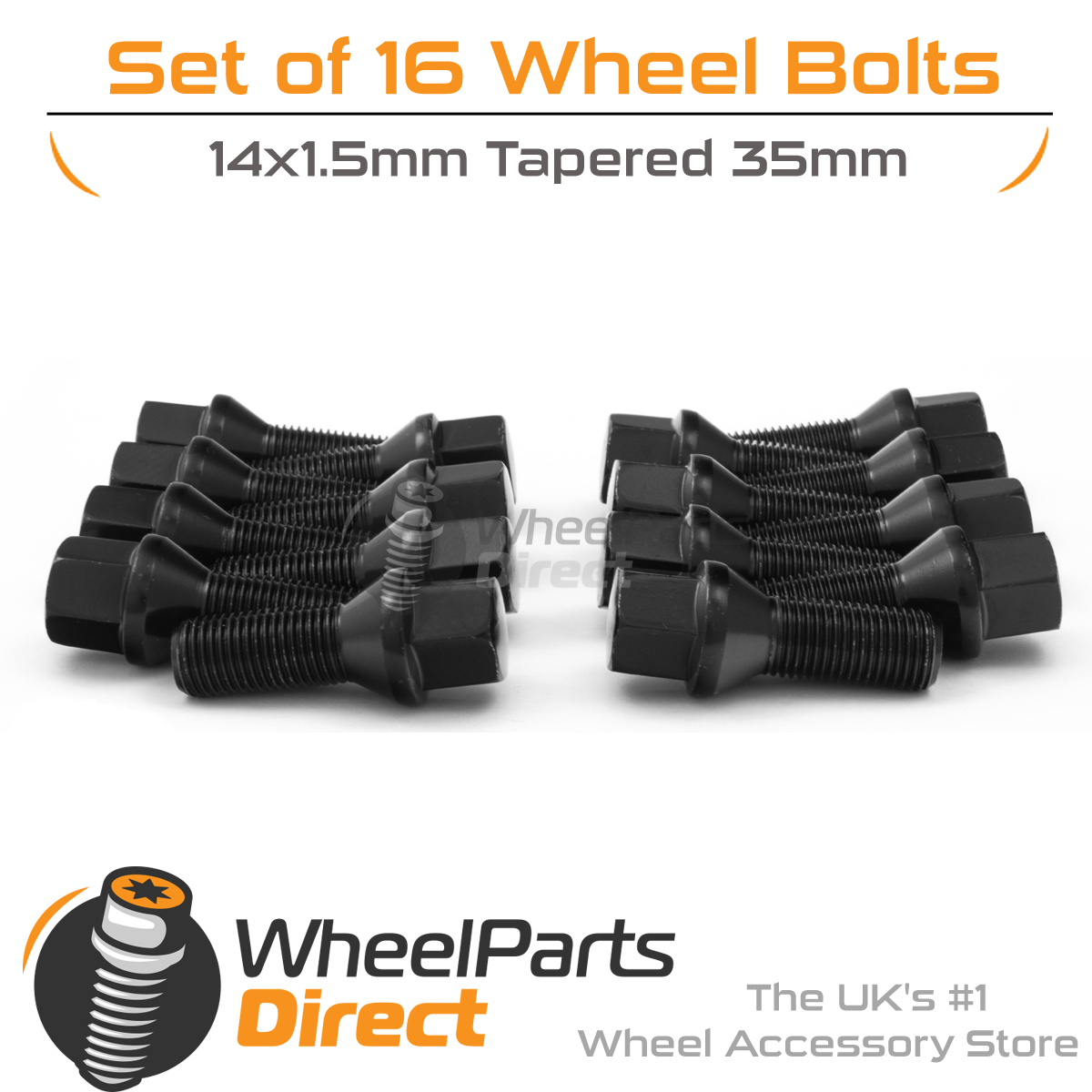 14x1.5 Nuts for Mercedes C-Class C63 AMG 08-15 20 W204 Wheel Bolts Black