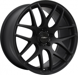 matt black alloy wheel