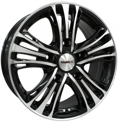 black polished alloy wheel