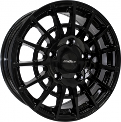 gloss black alloy wheel