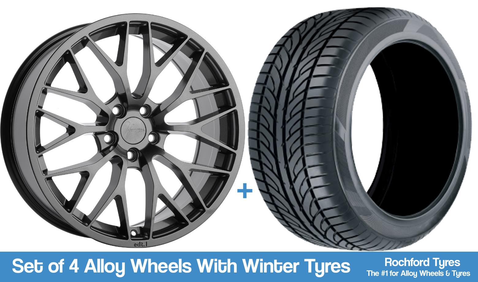 """1form Winter Alloy Wheels & Tyres 18"""" For Merc Cla-class Cla45 Amg C117 13-16 Om Jarenlange Probleemloze Service Te Garanderen"""